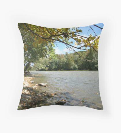 Little Miami River Throw Pillow