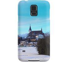 Village skyline in winter time | landscape photography Samsung Galaxy Case/Skin