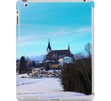Village skyline in winter time | landscape photography iPad Case/Skin