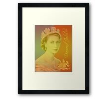 Queen Elizabeth II Diamond Jubilee Framed Print