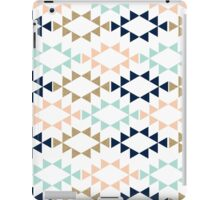 Aztec Pattern in navy, turquoise, blush modern colors iPad Case/Skin