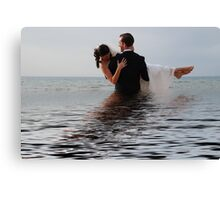 Off for the Honeymoon Canvas Print