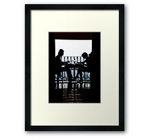 Luncheon Silhouette Framed Print