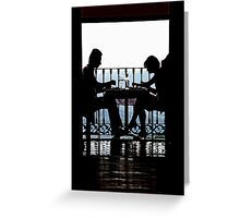 Luncheon Silhouette Greeting Card