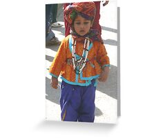 Banjara Boy in Jaipur Greeting Card