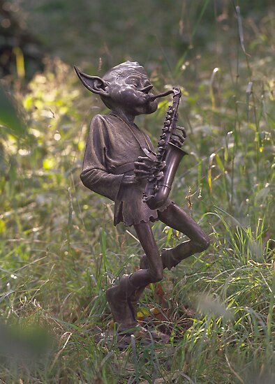Sax Player by David Goode