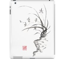 Dancing on the edge sumi-e painting  iPad Case/Skin