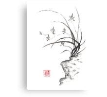 Dancing on the edge sumi-e painting  Canvas Print