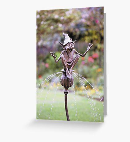 Seedpod Fountain detail Greeting Card