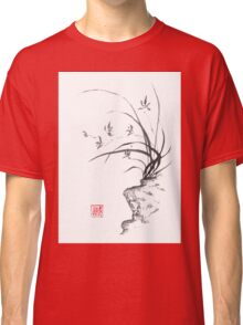 Dancing on the edge sumi-e painting  Classic T-Shirt
