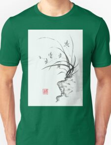 Dancing on the edge sumi-e painting  Unisex T-Shirt