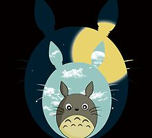 Totoro night and day by itslexatchison