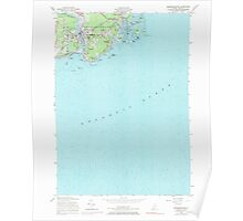 Maine USGS Historical Map Kennebunkport 105256 1956 24000 Poster