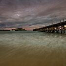 Coffs Harbour Jetty at Dusk by Mark Snelson