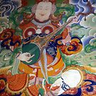 Thanka, Buddhist gods and guardian spirits by cascoly