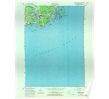 Maine USGS Historical Map Kennebunkport 806811 1956 24000 Poster