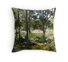 A view through the trees Throw Pillow