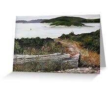 Marathon Harbor on Lake Superior Greeting Card