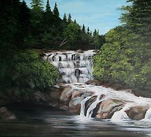 mink creek falls by loralea