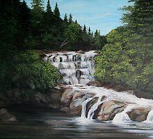 mink creek falls by loralea