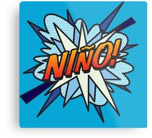 Comic Book NINO! Metal Print