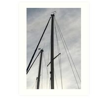 lowered sails in the winter Art Print