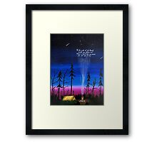 ends of the earth Framed Print