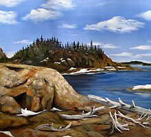 Mouth of MInk Creek into Lake Superior by loralea