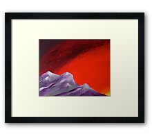 Grounded, at sunset Framed Print