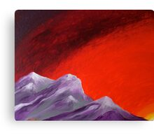 Grounded, at sunset Canvas Print