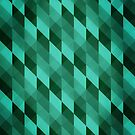 Emerald green abstract triangles pattern by mikath