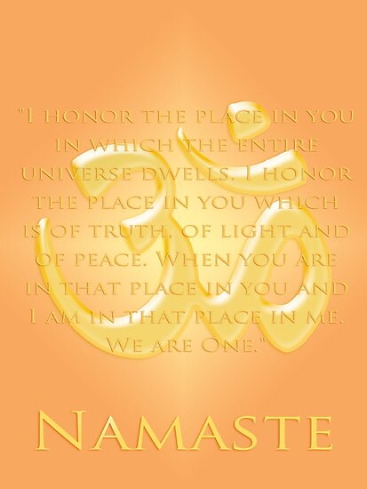 Om or Aum Symbol with Namaste quote by Heidi Hermes