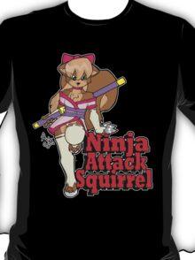 Ninja Attack Squirrel 2 (dark) T-Shirt