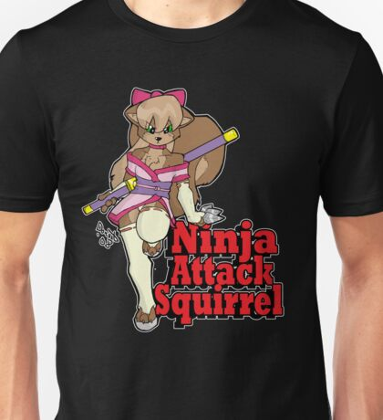 Ninja Attack Squirrel 2 (dark) Unisex T-Shirt