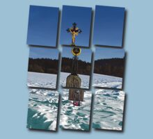 Wayside cross in winter scenery | landscape photography Kids Clothes