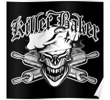 Baker Skull 10: Killer Baker and Crossed Rolling Pins Poster