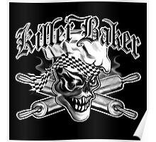 Baker Skull 5: Killer Baker and Crossed Rolling Pins Poster