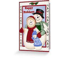 Snowman Snow Family Christmas  Greeting Card