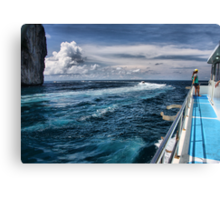 Leaving Monkey Island Canvas Print