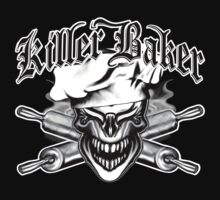 Baker Skull 10: Killer Baker and Crossed Rolling Pins T-Shirt