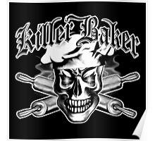 Baker Skull 3.1: Killer Baker and Crossed Rolling Pins Poster