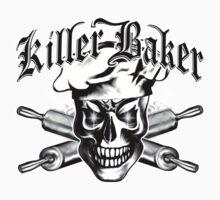 Baker Skull 3.1: Killer Baker and Crossed Rolling Pins Kids Clothes