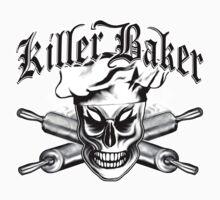 Baker Skull 4: Killer Baker and Crossed Rolling Pins Kids Clothes