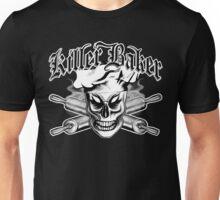 Baker Skull 4: Killer Baker and Crossed Rolling Pins Unisex T-Shirt