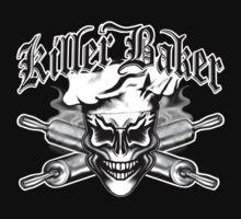 Baker Skull 1: Killer Baker and Crossed Rolling Pins by sdesiata