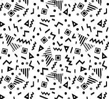 Zigzag Party - White by Andrea Lauren by Andrea Lauren