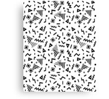 Zigzag Party - White by Andrea Lauren Canvas Print