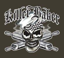Baker Skull 8: Killer Baker and Crossed Rolling Pins by sdesiata