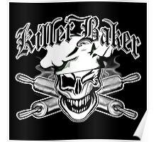 Baker Skull 7: Killer Baker and Crossed Rolling Pins Poster