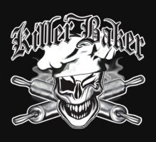 Baker Skull 7: Killer Baker and Crossed Rolling Pins T-Shirt